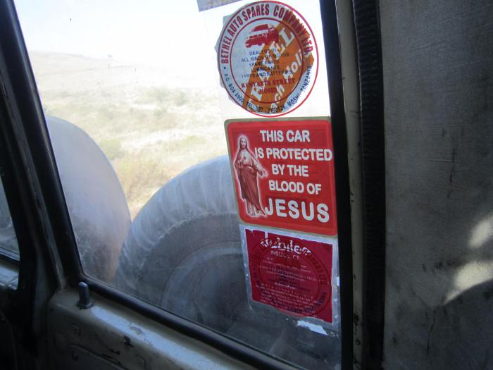 We felt safe in our safari car!