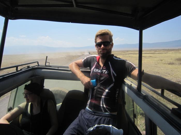 Jonas enjoying the crater