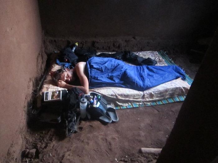 Sleeping in Massanjas new house