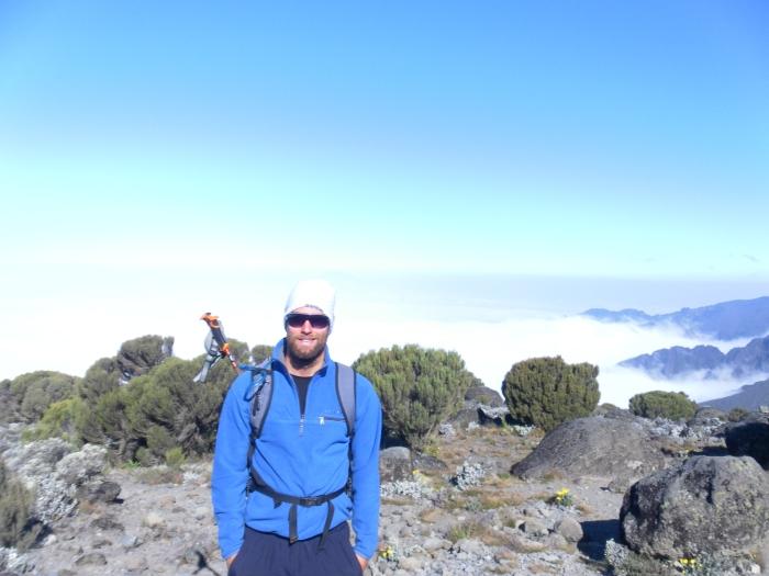 Jonas on his way up Kilimanjaro