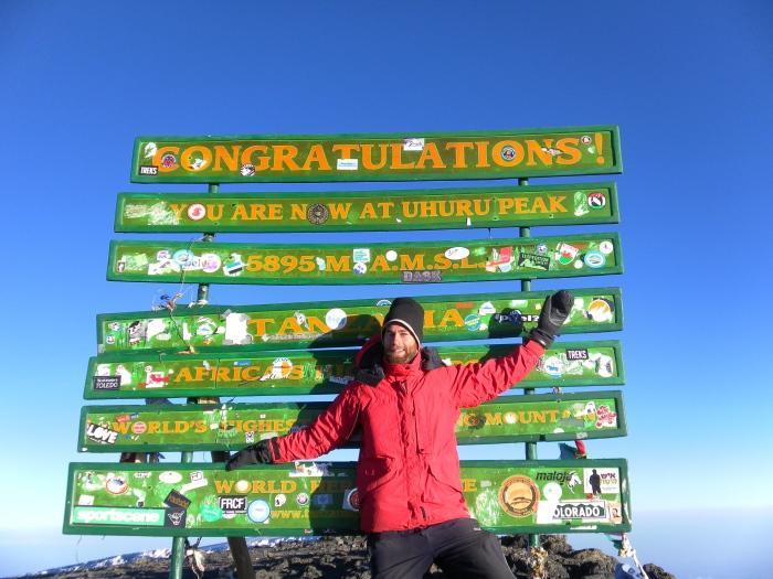 Jonas on Uhuru peak